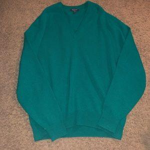 Burberry London women M Green Vneck Sweater